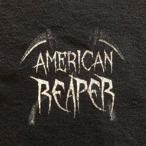 Vintage Shirts - Vintage American Reaper T Shirt Black